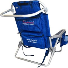 Tommy Bahama Backpack Cooler Chair Blue Straight Back Chairs 2 With Storage Pouch And Towel