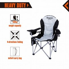 Best Folding Quad Chair Back Covers For Christmas Kingcamp Lumbar Support Oversized Padded