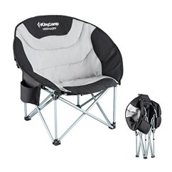 Padded Camping Chair Herman Miller Eames Replica Kingcamp Moon Saucer Leisure Heavy Duty Steel