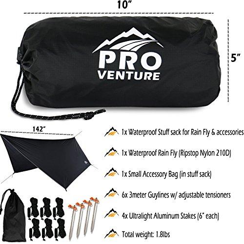 Pro Venture 12 FT Hex Waterproof Hammock RAIN Fly ...