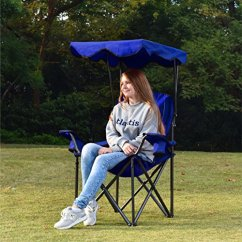 Camping Chairs With Canopy Best Reclining Rocking For Nursery Alpha Camp Shade Chair Folding Support 350 Lbs