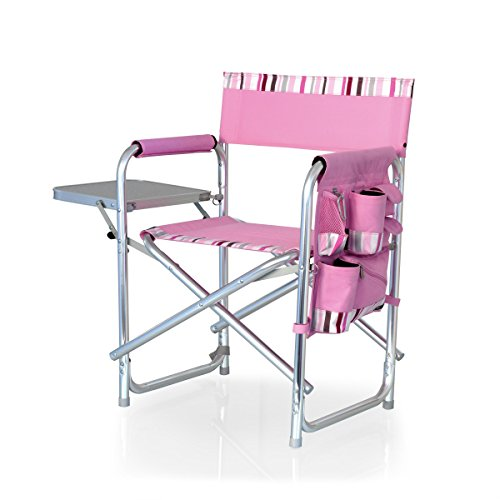 picnic time sports chair light grey velvet accent portable folding best camp kitchen