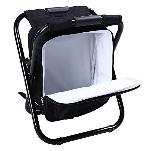 fishing cooler chair purple mesh office genenic backpack portable camping stool foldable with