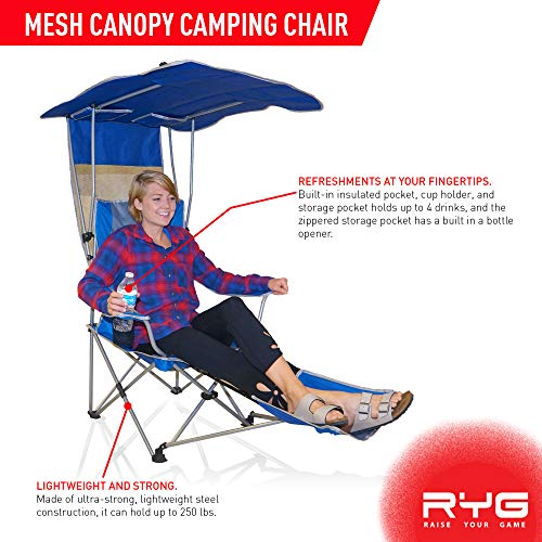 Heavy Duty Lightweight Lounge Beach Chair with Adjustable