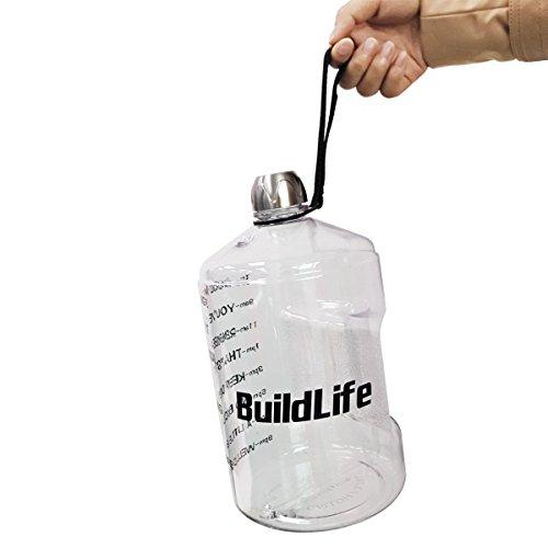 Buildlife 1 Gallon Water Bottle Motivational Fitness