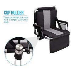 Stadium Chairs For Bleachers With Arms Stryker Evacuation Chair Alpha Camp Seat Padded Back Arm Rest