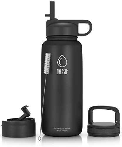 Stainless Steel Water Bottle Vacuum Insulated Keep Cold Flask Sports Gym 3 Sizes