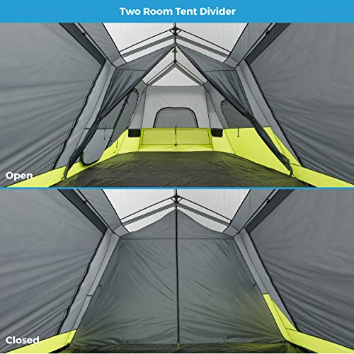 separation shoes d3d49 c5fd3 CORE Two Room 12 Person Instant Cabin Tent with Side Entrance