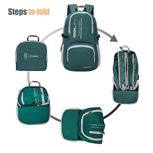 4a9f829614b8 ZOMAKE Lightweight Travel Backpack, Packable Water Resistant Hiking Daypack  Foldable Backpack for Women Men