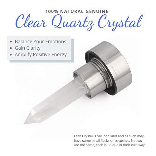 Kiara Crystal Elixir Bottle | 16oz Natural Gemstone Water Bottle for Making  Crystal Infused Gemwater | Includes Premium Healing Crystal, Free E-Book