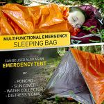 Survival Whistle Outdoor Camping Set Ultralight Portable Emergency Sleeping Bag