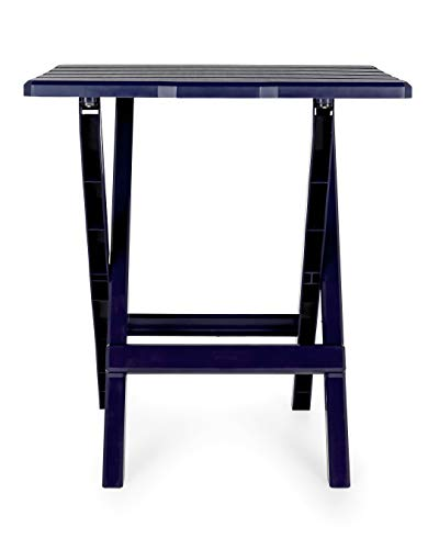 Camping Cookouts and More Picnics Weatherproof and Rust Resistant Camco 51693 Navy Large Adirondack Portable Outdoor Folding Side Table Perfect for The Beach