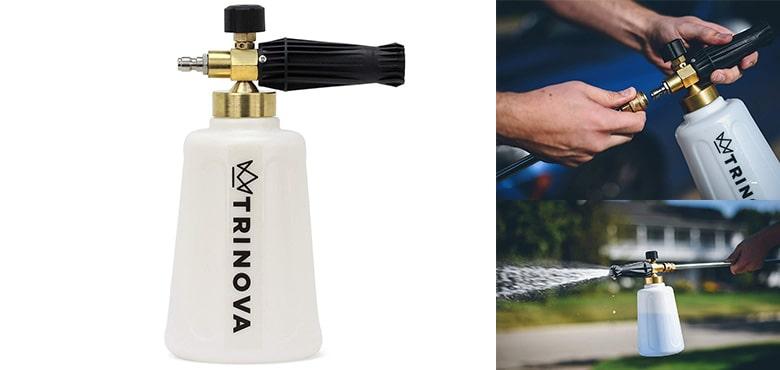 Best Car High Pressure Cleaning Tools - TriNova Foam Cannon and Gallon Car Wash - Soap and foam - detailing Gun