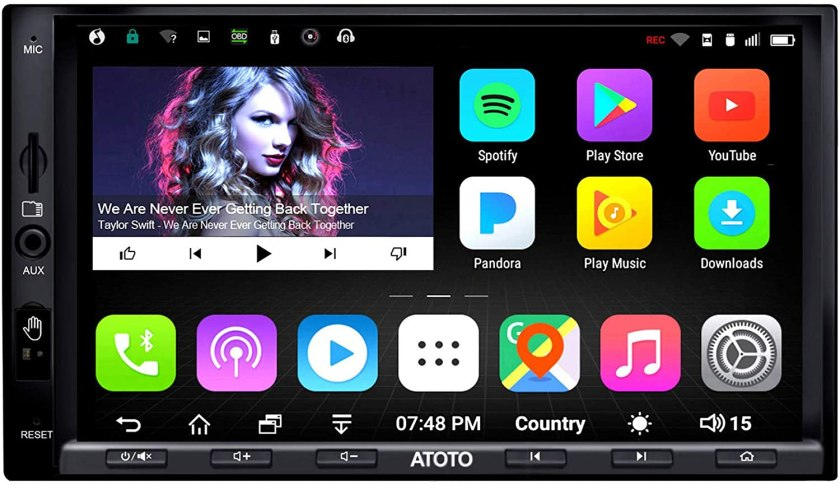 ATOTO A6 Double Din Android Car Navigation  Best Double Din With Backup Camera