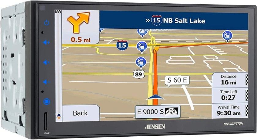 "Jensen CMN86 6.8"" 2-Din Car Stereo  Best Double Din With Backup Camera"