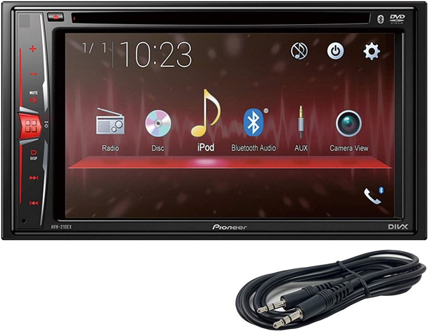 Pioneer AVH-210EX in-Dash double-DIN Touchscreen Unit Best Double Din Car Stereo Under $200