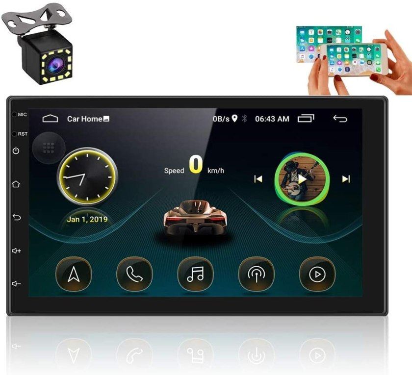 UNITOPSCI Double Din Android Car Stereo with GPS