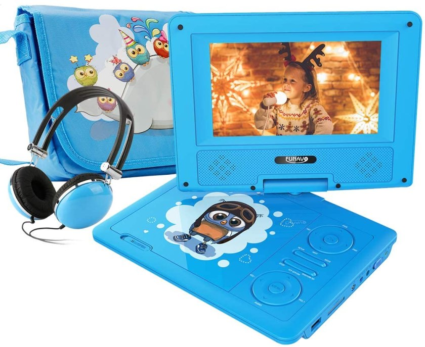 Best Portable DVD Player under $50, FUNAVO 7.5″ Portable DVD Player with Headphone