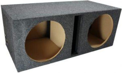 Car-Audio-Dual-12-Vented-Subwoofer-Stereo-Sub-Box-Ported-Enclosure