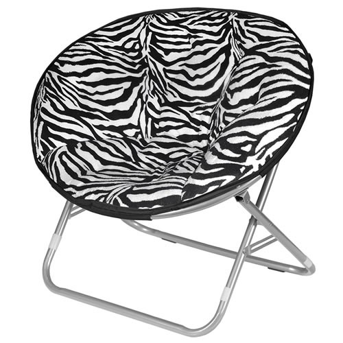 saucer chair replacement cover wheelchair zumba cheap chairs best rated moon for adults teens and kids zebra faux fur unique