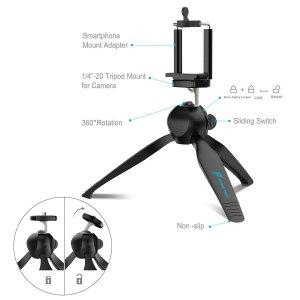 Fugetek Premium Mini Tripod with Phone Mount