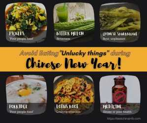 6 things you shouldn't eat during the Chinese New Year and why!