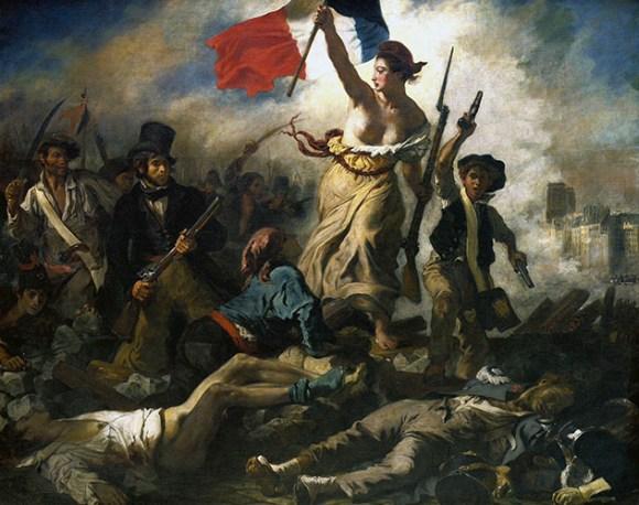 la liberte leading Delacroix