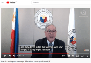 Philippines Foreign Secretary Teodoro Locsin explains Myanmar