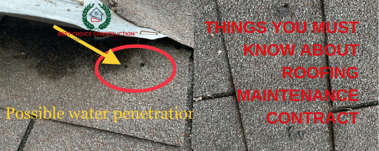 THINGS YOU MUST KNOW ABOUT ROOFING MAINTENANCE CONTRACTS