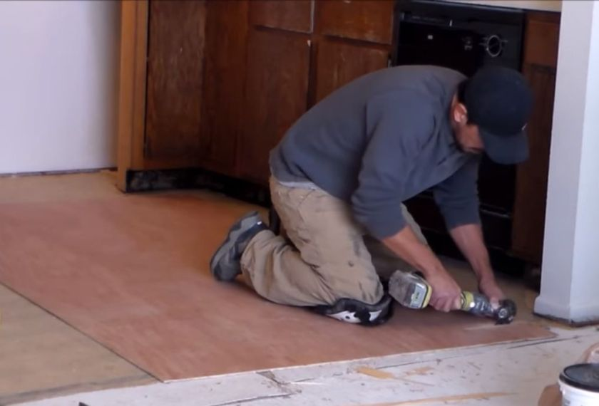 Installing Plywood Underlayment