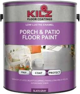 KILZ Interior/Exterior Enamel Porch & Patio Latex Floor Paint - Best paint for wooden porch floor