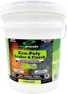 Eco-Poly Polyurethane Wood Floor Finish & Concrete Sealer, Water-Based