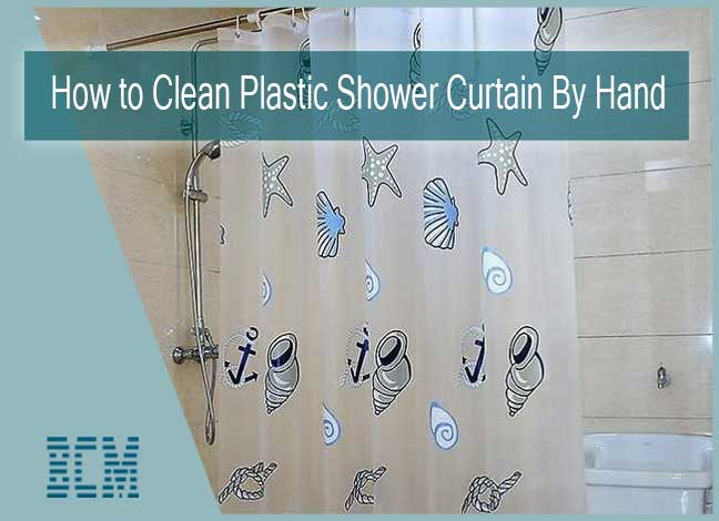 to clean plastic shower curtain