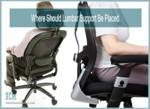 where to put lumbar support on chair