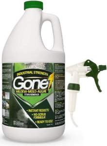 EcoClean Solutions Mold, Mildew & Algae Remover for Wood & All Surfaces with Spray