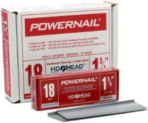 "Powernail 18ga 1-3/4"" HD L Cleat Flooring Nail for 3/4"" Solid Hardwood Flooring"