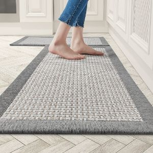 AMOAMI Non-skid Water Absorbent Rugs and Mats 2 PCS Set - Best Washable Kitchen Rugs