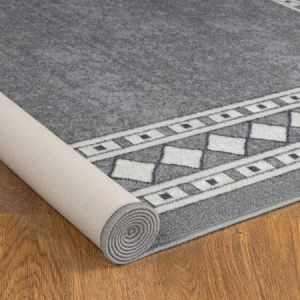 Antep Modern Bordered 8x10 Non-skid Rubber Backing Area Rugs for Indoor Use
