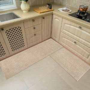 Cosy Homeer 100% Polypropylene Kitchen Rug 2 Pieces - Anti Slippery and Machine Washable