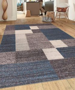 Rugshop Modern Design Stain Resistant Non-slip Area Rug for High Traffic Areas
