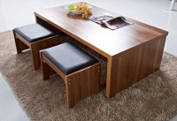 Coffee Table With Stools And Storage | Coffee Table Design ...