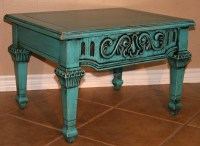 Distressed Turquoise Coffee Table | Coffee Table Design Ideas
