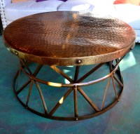 Hammered Copper Coffee Table | Coffee Table Design Ideas