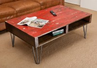 Red Distressed Coffee Table | Coffee Table Design Ideas