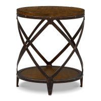 Rustic Round End Table | Coffee Table Design Ideas