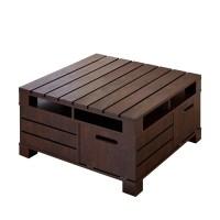 Rustic Storage Coffee Table   Coffee Table Design Ideas