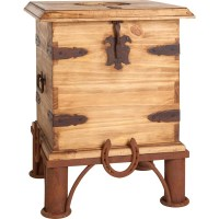 Rustic Trunk End Table | Coffee Table Design Ideas