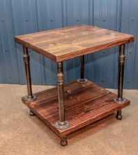 Rustic Wood End Table | Coffee Table Design Ideas