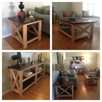 Rustic X End Table | Coffee Table Design Ideas