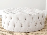 Round Ottoman Coffee Table Upholstered | Coffee Table ...